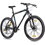 '26pulgadas MTB Mountain Bike CHRISSON Cutter 1.0aluminio con 24g acera Negro Mate, tamaño 53 cm, tamaño de rueda 26.00 inches