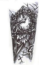 Generic Girl's Temporary Tattoo 3D Vintage Clock Sticker