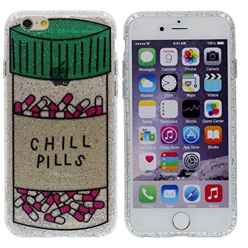 """Mode iPhone 6 / iPhone 6S 4.7"""" Hülle Case Cover, Weich Licht Dünn Transparent Handyhülle, Kreativ Original Entwurf – CHILL PILLS Color-3"""