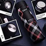 The Purple Tree Double Wall Vacuum Flask Insulated Thermos Travel Stainless Steel Water Bottle (Pack Of 1) With Strainer BPA Free- 500 ML Capacity Leak Proof Sipper , Hot And Cold Water Bottle For Upto 12 Hours (BRAVE)