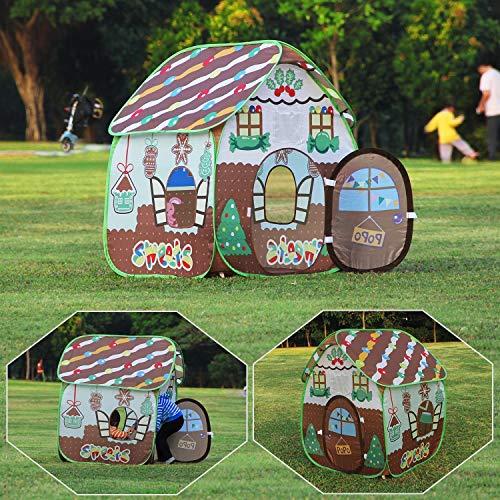 Homfu Tente de jeu pour enfants pour filles et garçons, pour des excursions à l'extérieur, tente dépliable facilement (32inch X 41inch)