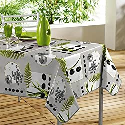DecorLine 1710348 Nappe PVC Photoprint Jardin Zen 140 x 240 cm