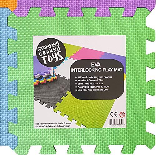 Stomping ground toys 18 alfombras puzzle eva coloridas - Alfombras puzzle infantiles ...