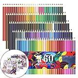Lot de 160Crayons de couleur, crayons de couleur pour croquis, dessin, peinture, Plus Lot de 4livres de coloriage pour adultes comme cadeau Extra