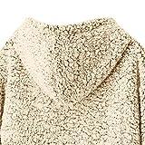 TWBB Damen Mantel,Winter Warm Hoodie Einfarbig Kapuzenpullover Outwear Kunstfell Jacke Strickjacke Coat Vergleich