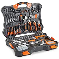 VonHaus Premium Hand Tool Kit + Socket Set 256pc - Combo Tool Kit with Satin-Finished Tools & Heavy Duty Storage Case - Ideal for DIY, Workshop & Garage