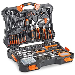 VonHaus 256pc Premium Hand Tool + Socket Set – Combo Tool Kit with Satin-Finished Tools & Heavy Duty Storage Case – Ideal for DIY, Workshop & Garage