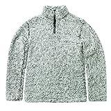Wraluhen Sherpa-Viertel Pullover mit Reißverschluss Unisex-Passform und zweifarbiges 100% Polyester, Flauschiges Fleece-Sweatshirt Pullover Outwear