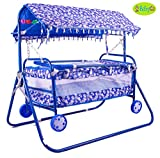 Best Cradles - BabyGo Baby Cradle Cot Cum Stroller (Blue) Review