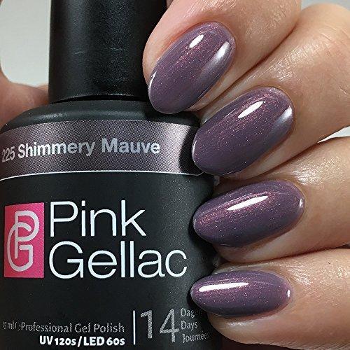 Rose Gellac UV Vernis à Ongles 225 Shimmery Mauve. Gel Vernis à ongle shellac professionnelle pour au moins 14 jours brillante ongles parfaits