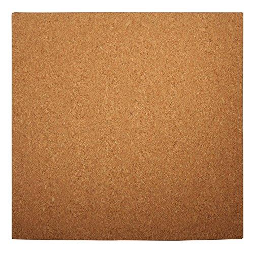 Rayher 69066000 tavoletta quadrata in sughero, 30 x 30 x 0,5 cm con arco misurazione per quilling