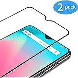 TAMOWA [2-pack skärmskydd för OnePlus 7/OnePlus 6T, helskärm premium härdat glasfilm 9H hårdhet skottsäker skärmglasskydd, re