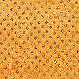Fabulous Fabrics Pannesamt Hologramm Pailletten – orange