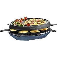 Tefal Raclette Colormania 3 en 1 Appareil à Raclette Grill et Crêpe, Revêtement Antiadhésif Easy Plus, 8 Coupelles…