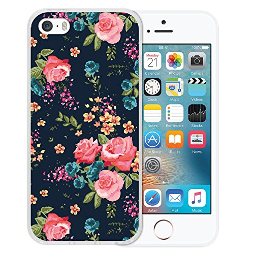 iPhone SE iPhone 5 5S Hülle, WoowCase® [ Hybrid ] Handyhülle PC + Silikon für [ iPhone SE iPhone 5 5S ] Bäume und Universum Handytasche Handy Cover Case Schutzhülle - Transparent Housse Gel iPhone SE iPhone 5 5S Transparent D0556