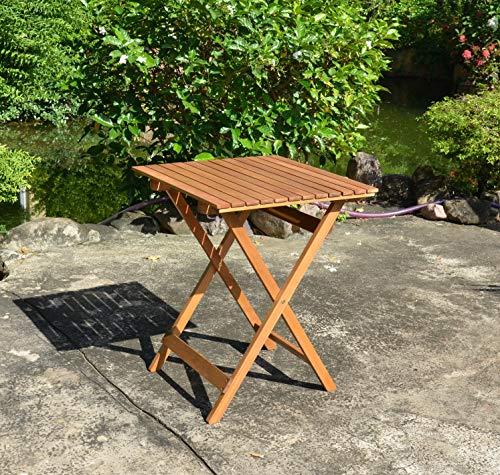 Balkon Bistro Klapptisch Mod. DIEGO Eukalyptus Holz FSC natur geölt B/T/H ca. 58/58/73