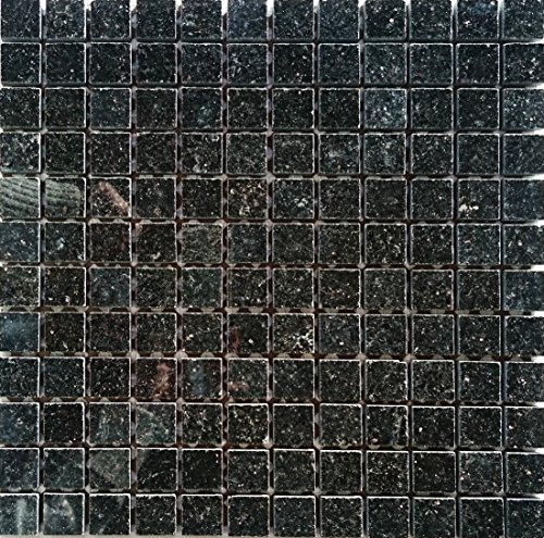 Granit Mosaik Star Black 2,3x2,3x0,8cm, 1 Tafel MOSAKO Fliesen -