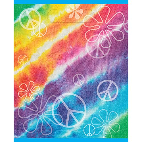 Unique Party Supplies Rainbow Tie Dye Partytüten, 8 Stück