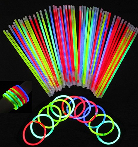 ck Premium Glow Sticks Tube mit Stecker Glow Halsketten Gläser Triple Armbänder Stirnband Ohrringe Blumen Ball Light Up Toys gemischt Farben Party Supplies Dekorationen Gastgeschenken (Halloween-dekoration Mit Glow-sticks)