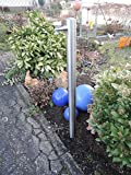 Wasserzapfstelle Edelstahl Wasserzapfsäule Wasserverteiler 85cm WS6085
