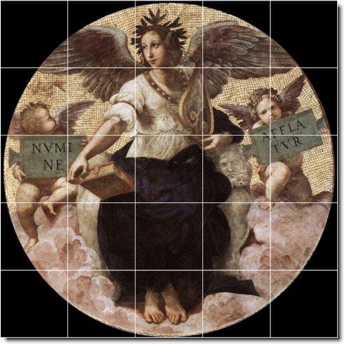 RAPHAEL RELIGIOSO DUCHA MURAL DE AZULEJOS 10  21 2X 21 25PULGADAS CON (25) 4 25X 4 25AZULEJOS DE CERAMICA