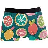 JIRT Slip da Uomo Boxer Cute Colorful Fruit Lemon Underwear Maschio Trunks Stretch Traspirante Bulge Pouch Soft Underpants
