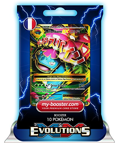 MEGA FLORIZARRE EX FULL ART 100/108 230PV XY12 EVOLUTIONS - Booster de 10 cartes Pokemon francaises my-booster