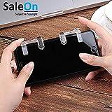 SaleOn™ PUBG Phone Gamepad Metal Trigger Fire Button Aim Key Smart Phone Mobile Games L1R1 Shooter Controller-779