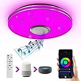Wayrank Smart led-plafondlamp met bluetooth-luidspreker, wifi, RGB-lampen, plafondlamp met kleurverandering, compatibel met A