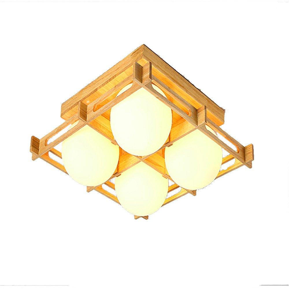 Plafoniera a LED Plafoniere a soffitto in legno massiccio Lampade da tavolo per la casa Lampade da c