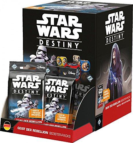 Preisvergleich Produktbild Star Wars Destiny - Geist der Rebellion - Booster Pack | Display Deutsch | Kartenspiel | TCG