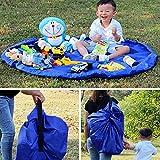 HXLONG 150cm hijos de limpieza bolsa de almacenamiento de juguete tapete de almacenamiento de bolsa de almacenamiento de juguete bolsa