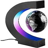 Surplex Créatif Globe Terrestre Lumineux Flottant Magnétique Levitation Globe Lamp avec Lumières LED et Base en Forme C pour