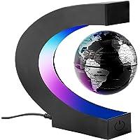 Surplex C-Form Magnetische Schweben Floaten Weltkarte Globus mit Led Display Stütze, Rotierende Erde Globus Kugel…