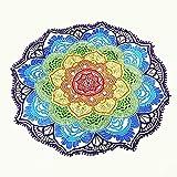Mandala Fular estilo Hippy ideal para usar como pareo para sentarse en la playa para decorar una pared e incluso como sábana para meditar en yoga 100% cotton