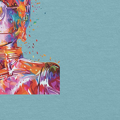 NERDO - Colour Droid - Damen T-Shirt Hellblau