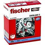 Fischer Duoblade S 545676 - Tacos de yeso autoperforante, incluye tornillos, tacos para placas de yeso, tacos para placas lig