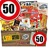 DDR Produkte L | Zahl 50 | Geburtstags Geschenk Papa | Süßigkeiten Box