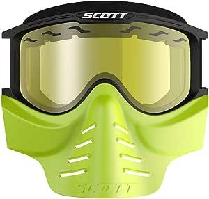 Scott 83x Safari Motocross Brille Mit Gesichtsmaske Gelb Schwarz Sport Freizeit