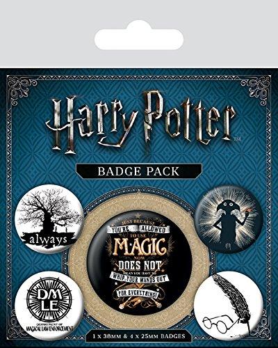 Wizarding World Abzeichen, Plastik, Mehrfarbig, 10 x 12.5 cm
