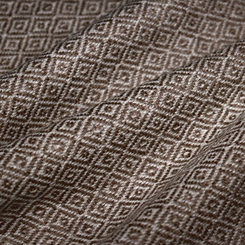 Lorenzo Cana - Coperta di lana, 100% cachemire, copriletto, copridivano o plaid, elegante e comoda, colore: marrone e bianco