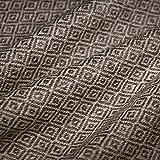 LORENZO CANA Kaschmir-Decke Wohndecke Decke 100% reines Kaschmir handgewebt Sofadecke Kaschmirdecke Wolldecke Braun Beige 96190