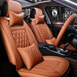 Pegasus Premium Pu Leather Car Seat Cover Orange for Tata Tiago