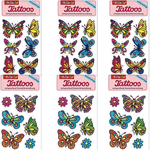 t * Schmetterlinge * vom Mauder-Verlag | Kinder Kindertattoo Kindergeburtstag Geburtstag Mitgebsel Geschenk Frühling Mädchen Schmetterling Bunt ()