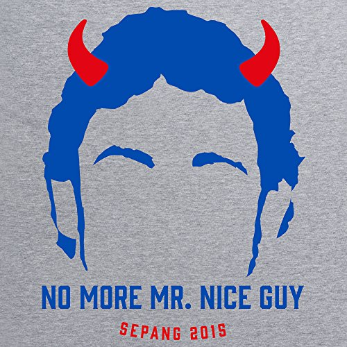 No More Mr. Nice Guy T-Shirt, Herren Grau Meliert
