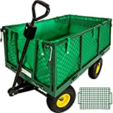 TecTake Heavy duty wheelbarrow garden trolley mesh...
