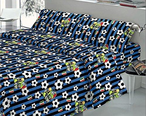 Quadrifoglio - completo lenzuola matrimoniale 2 piazze squadre