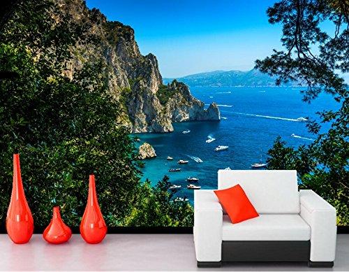 Malilove Papel De Parede Italien Küste Yachtcharter Segeln Natur Wallpaper Hotel Zimmer Bar Restaurant Wohnzimmer Sofa Tv Wand Schlafzimmer 3D Wandbilder200X140CM
