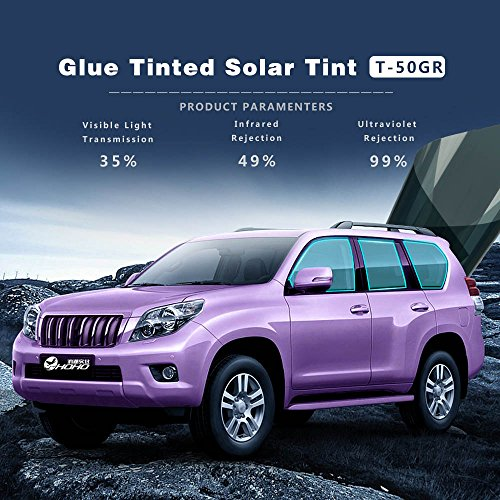 35 Fenster Schatten (HOHO dunkelgrün Auto Seite Fenster Glas Tint VLT 35% Film Sun Block Aufkleber Auto Folien)
