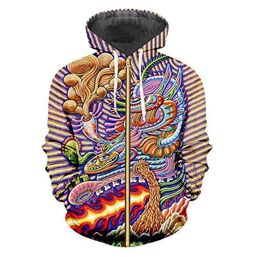 Ai Ya-weiyi 3D-Gedruckten Zip Hoodies Bunte Dragon Streetwear Groß Kleidung Herbst Zipper Hoodie Dragon Zip-hoodie